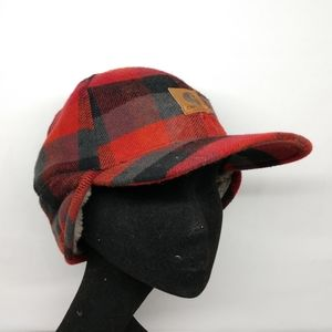 Carhartt Large / XL Red Black Plaid Outdoor Hat